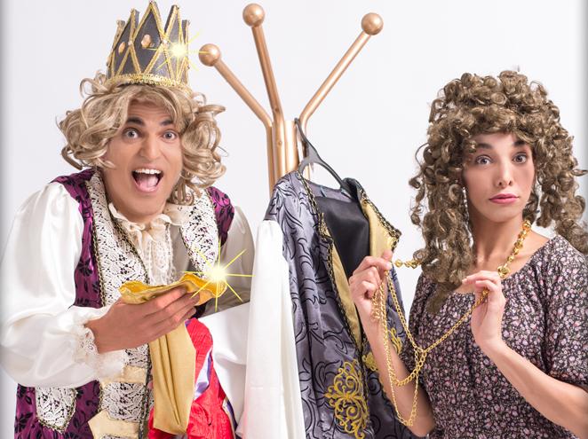 """בגדי המלך החדשים הצגה בתיאטרון הפארק בגני יהושע ת""""א"""