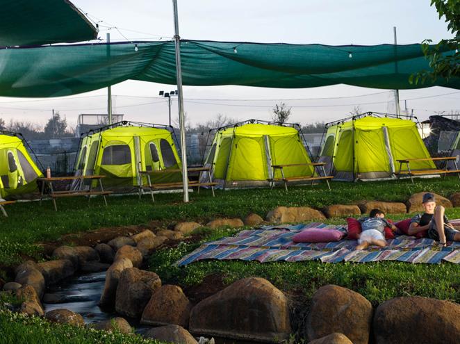 אוהלי VIP בחניון מעיין הגושרים