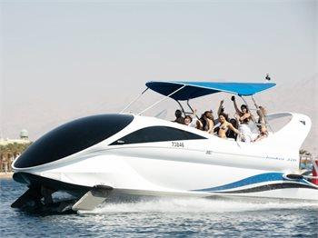 החללית האילתית - סירת זכוכית בלו איי