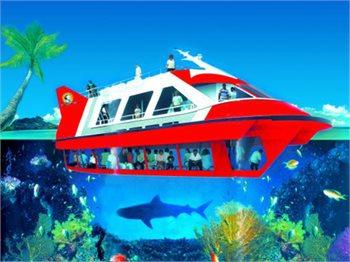 ספינת זכוכית זול ורן בחוף חנניה אילת