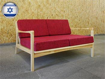 ספה זוגית בסגנון רטרו מעץ מלא - מגוון צבעים