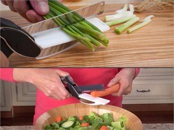סכין וקרש חיתוך Smart Cutter - לחיתוך מהיר, קל ונוח