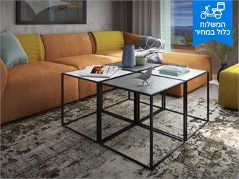 שולחן סלון קורדובה-לבן-במראה עץ אופנתי רב שימושי
