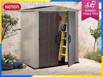 מחסן כתר פקטור 6*3 - מחסן גינה חזק ועמיד בעיצוב מרהיב