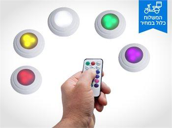 נורות לד אלחוטיות מחליפות צבעים לאווירה צבעונית ומוארת