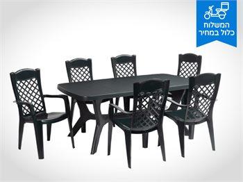 סט שולחן בולטימור ו-6 כסאות לירון - Baltimore Liron Set במגוון צבעים