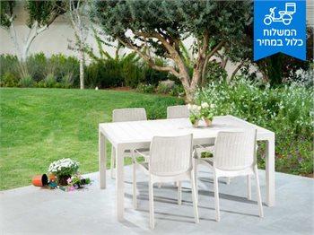 פינת אוכל מלודי סט MELODY - שולחן ו-6 כסאות באלי במגוון צבעים