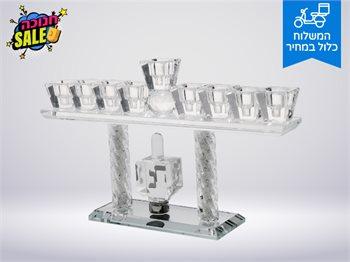 חנוכייה דגם סביבון הדלקת נרות חנוכה בסטייל-להדלקה בנר/שמן