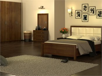 חדר שינה HARMONY מיטה זוגית, שידות, ארון, קומודה ומראה