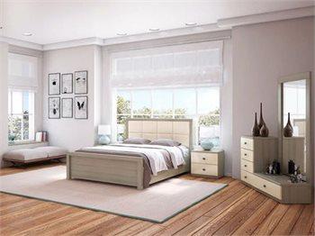 חדר שינה PROVANCE מיטה זוגית, 2 שידות, 2 קומודות ומראה