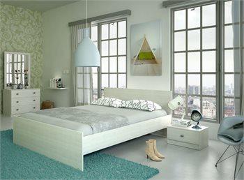 חדר שינה ARISTO מיטה זוגית, 2 שידות, קומודה ומראה