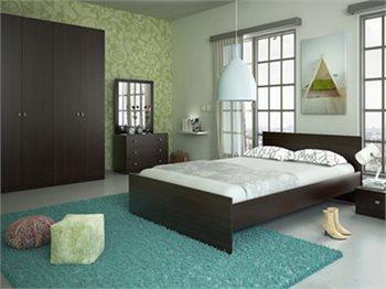 חדר שינה ARISTO+ארון, מיטה זוגית, 2 שידות, קומודה ומראה