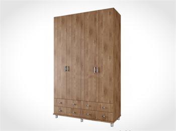 """ארון 4 דלתות ROY ברוחב 160 ס""""מ ועם 4 מגירות גדולות במיוחד"""