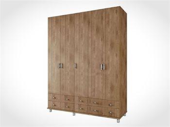 """ארון 5 דלתות ROY ברוחב 200 ס""""מ ועם 6 מגירות גדולות במיוחד"""