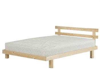 מיטה 140X190 ALPHA מסגרת עם ראש מיטה מעץ אורן ומזרן זוגי