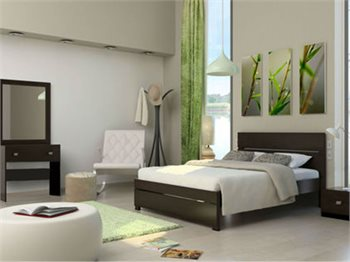 חדר שינה ECO מיטה זוגית, 2 שידות, שולחן איפור ומראה