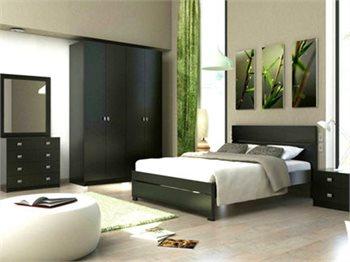 חדר שינה SPRING+ארון ארון, מיטה זוגית, 2 שידות, קומודה ומראה