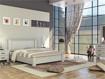 חדר שינה LORY מיטה זוגית, 2 שידות, קומודה 3 מגירות ומראה