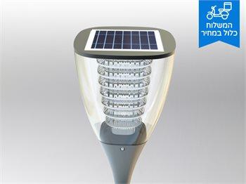 זוג עמודונים סולארים בעלי חיישן נפח תנועה