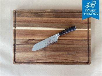 פריט חובה בכל מטבח ! בוצ'ר מקצועי ומרהיב, מעץ שיטה איכותי