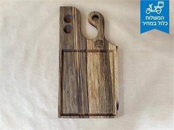 בוצ'ר קטן -מעץ אגוז - לוח קצבים מקצועי למיני נתחים