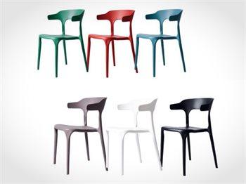 סט 4 כסאות דקורטיבים פנים+חוץ בתקן UV