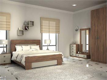 חדר COUNTRY + ארון, מיטה, 2 שידות לילה, 2 קומודות ומראה