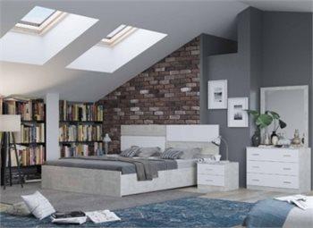 חדר שינה קומפלט במחיר נדיר - מיטה זוגית, 2 שידות, קומודה (טואלטיקה) ומראה