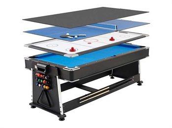 שולחן מולטי סנוקר מקצועי המשולב 4 ב- 1
