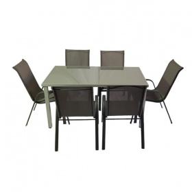 מערכת ישיבה ניו יורק מערכת ישיבה כולל 6 כיסאות לבית ולגינה