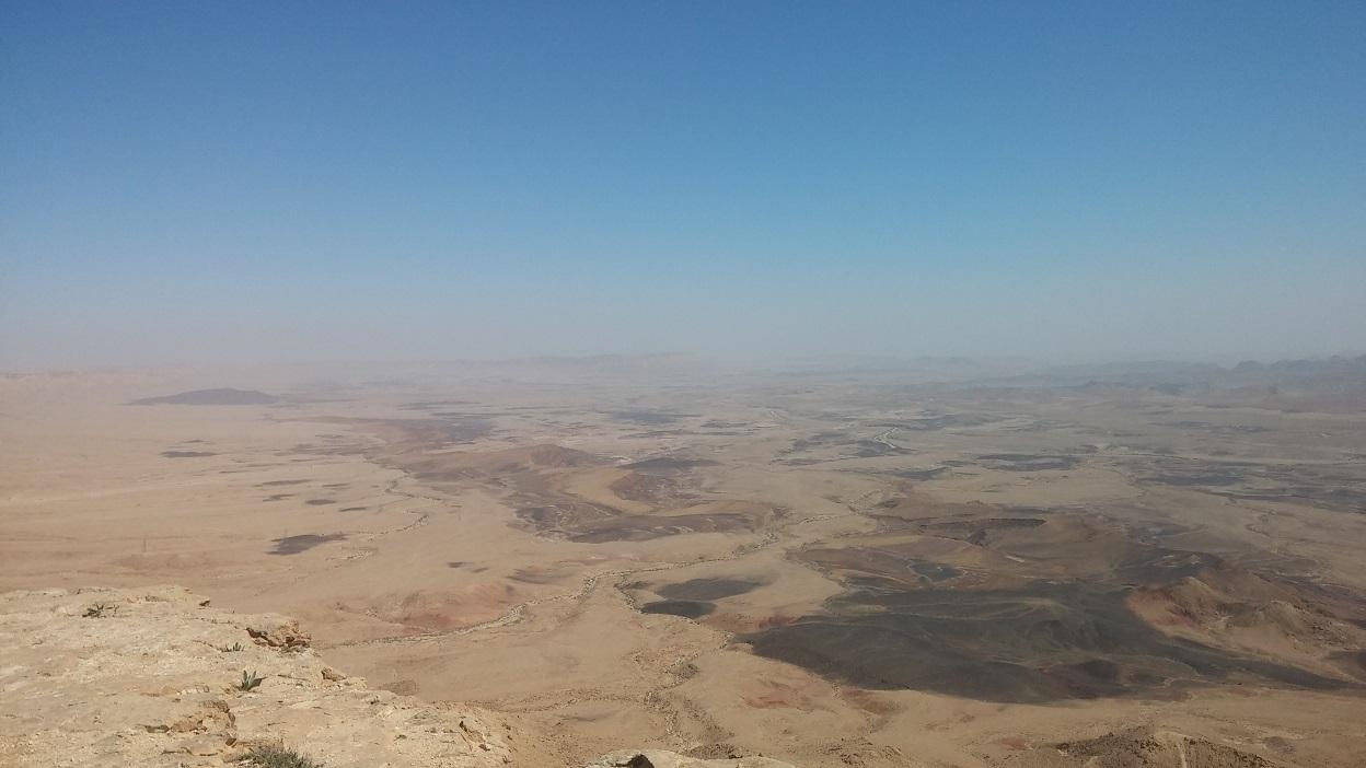 תצפית מכתש רמון - להביט על המדבר מלמעלה